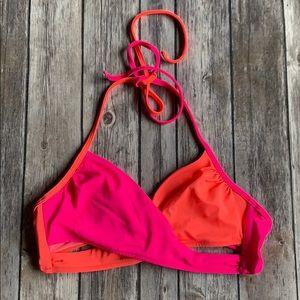 NWOTVS Two-Toned Pink and Orange Bikini Top size S